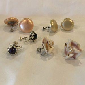 Five Non-Pierced Earring Multi Color